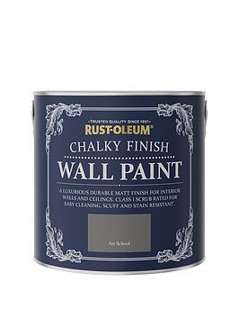 Product photograph showing Rust-oleum Rust-oleum Chalky Wall Paint Art School 2 5l