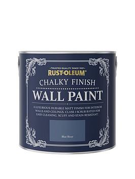 Product photograph showing Rust-oleum Rust-oleum Chalky Wall Paint Blue River 2 5l