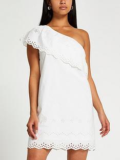 ri-petite-petite-one-shoulder-cutwork-dressnbsp--white