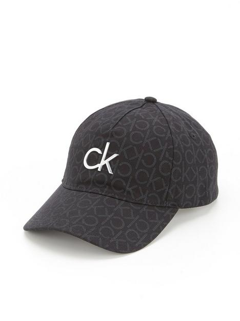 calvin-klein-monogram-cap-navy