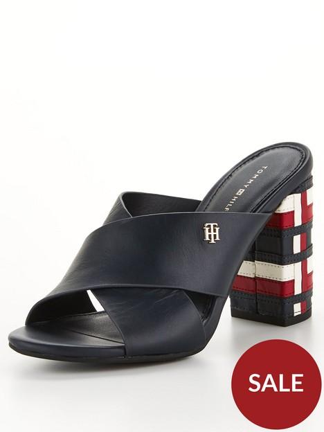 tommy-hilfiger-corporate-high-heel-mule-navy