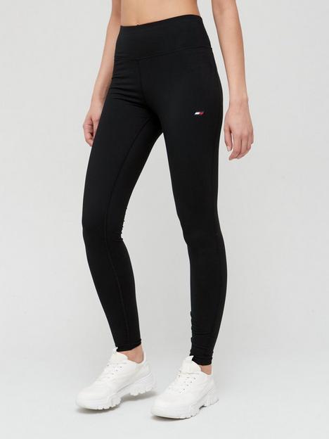 tommy-sport-graphic-leggings-black