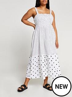 ri-plus-polka-dot-midaxi-parachute-dress-white