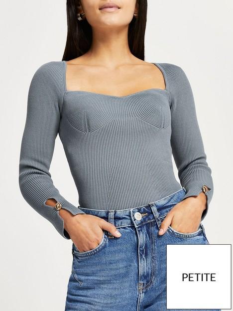 ri-petite-bustier-bodyfit-knitted-top-dusty-blue