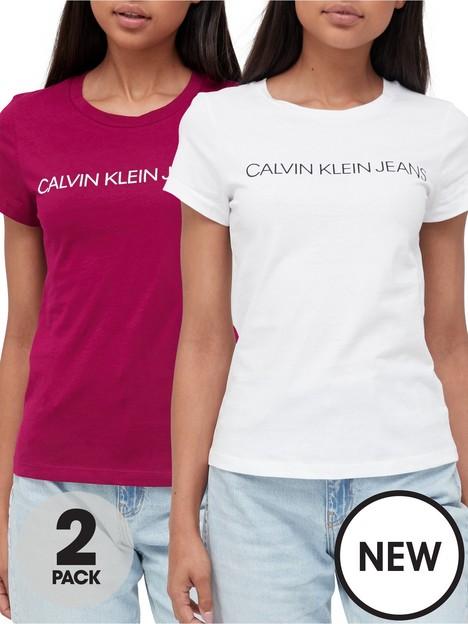 calvin-klein-jeans-institutional-logo-2-pack-t-shirt-white