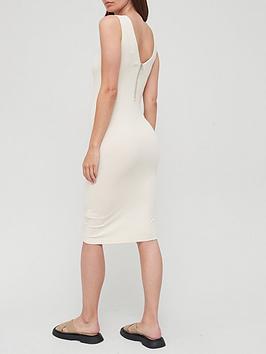calvin-klein-jeans-rib-zip-dress-white