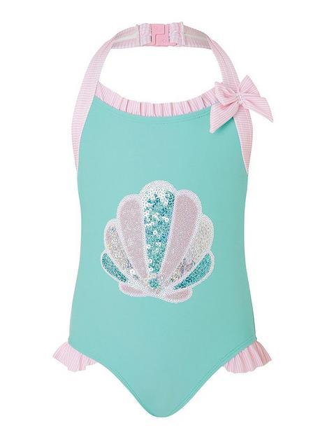 monsoon-girls-sequin-shell-halter-swimsuit-turquoise