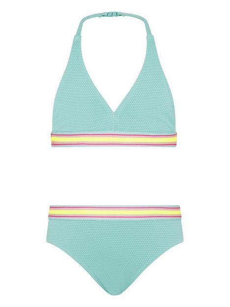 monsoon-girls-elastic-trim-texture-bikini-turquoise