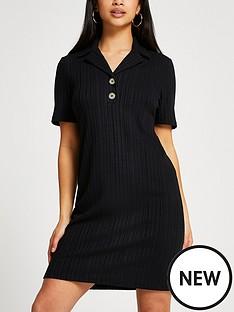 ri-petite-petite-button-polo-midi-dress-black