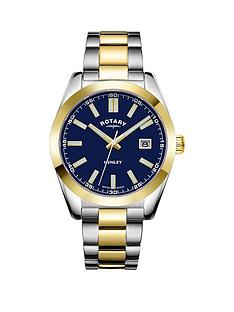 rotary-rotary-henley-blue-dial-stainless-steel-two-tone-bracelet-watch