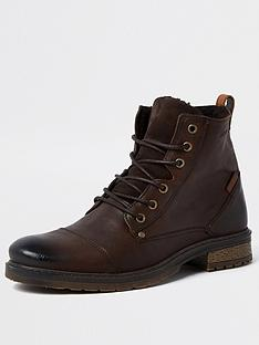 river-island-leathernbspdistressed-lace-up-boot-darknbspbrown