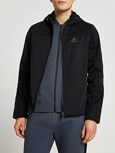 river-island-hooded-branded-bomber-black