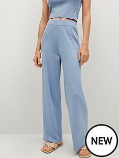 mango-fine-knit-coord-trousers-blue