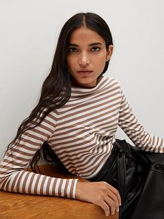 mango-long-sleeve-t-shirt-brown