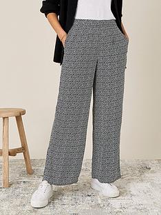 monsoon-black-square-print-trouser