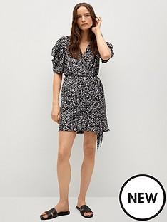 mango-floral-wrap-mini-dress