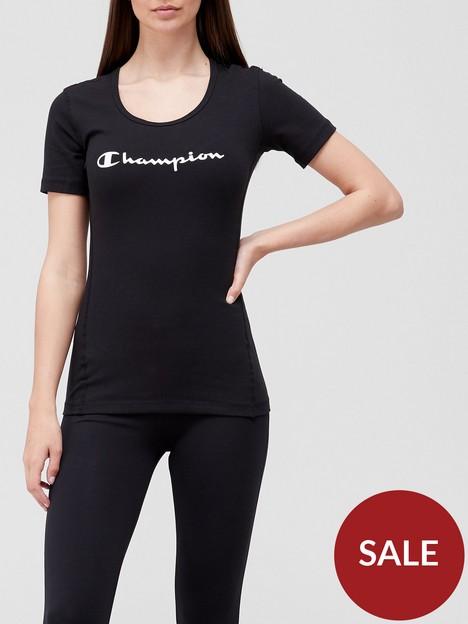 champion-workout-scoopnbspneck-t-shirt-black