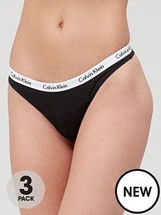calvin-klein-3-packnbspthong-black