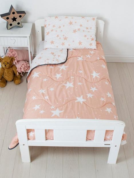 rest-easy-sleep-better-pink-star-coverless-quilt-4-tog-with-filled-pillow-toddler