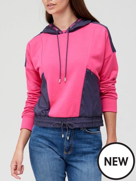 hugo-danbi-colour-block-hoodie-pink