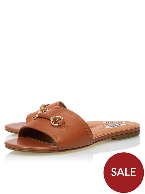 dune-london-laffia-flat-sandal-tan