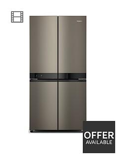 hotpoint-active-4-door-hq9u1bl-fridge-freezer-black-stainless