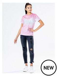 hype-hype-girls-pink-drips-short-sleeve-t-shirt