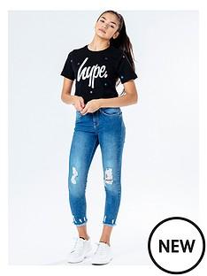 hype-girls-magic-star-short-sleeve-cropped-t-shirt-black