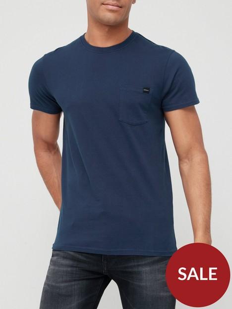 edwin-pocket-t-shirt-navy