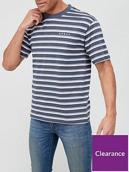 edwin-quarter-stripe-t-shirt-navy