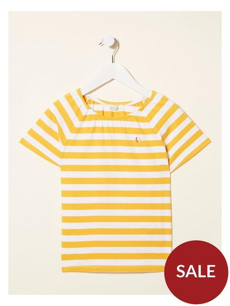 fatface-girls-block-stripe-tshirt-star-yellow