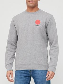 edwin-japanese-sun-sweater-grey