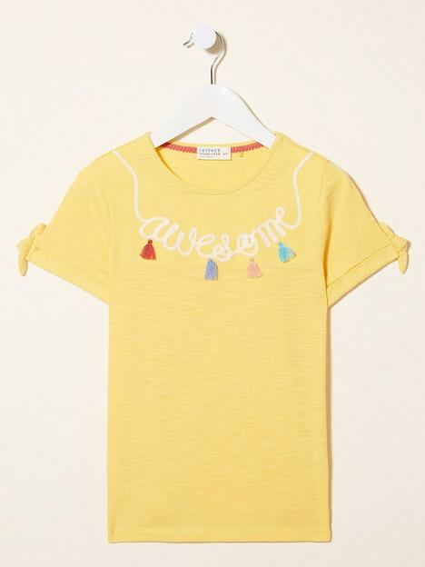 fatface-girls-awesome-tie-sleeve-graphic-tshirt-star-yellow