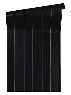versace-greek-key-stripe-black-wallpaper