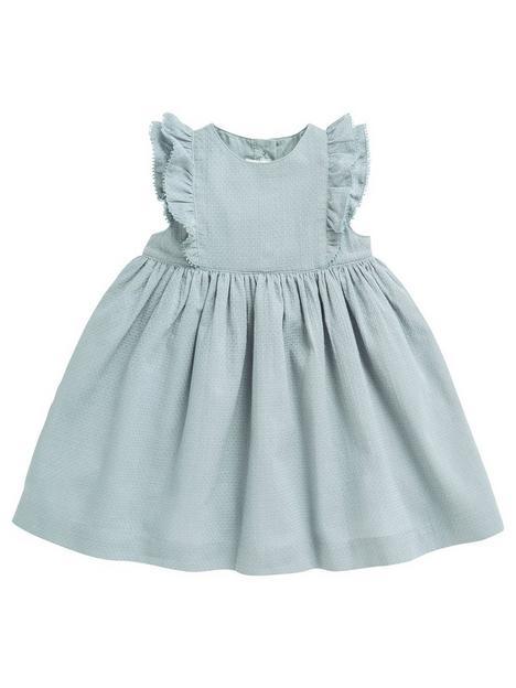 mamas-papas-baby-girls-woven-frill-dress-blue