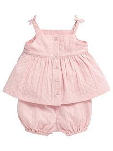 mamas-papas-baby-girls-2pc-woven-set-pink