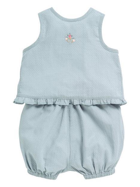 mamas-papas-baby-girls-2pc-woven-set-blue