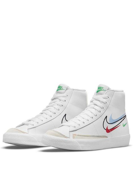 nike-blazer-mid-77-junior-trainers-whitegreennbsp