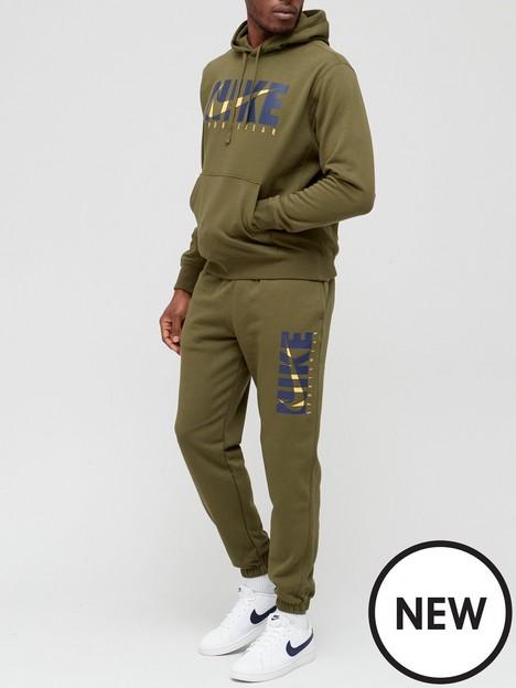 nike-sportswear-gx-fleecenbsptracksuit-greenwhite