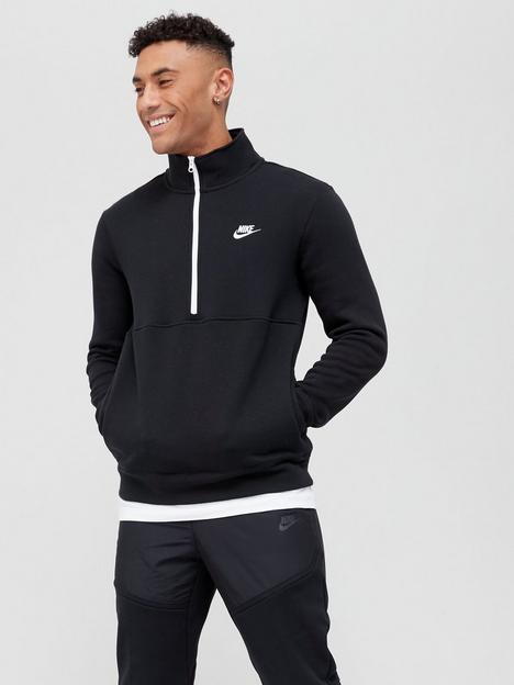 nike-nike-club-fleece-12-zip-sweat-top-blackwhite