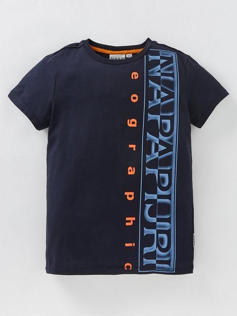 napapijri-boys-sadyr-short-sleeve-t-shirt-blue