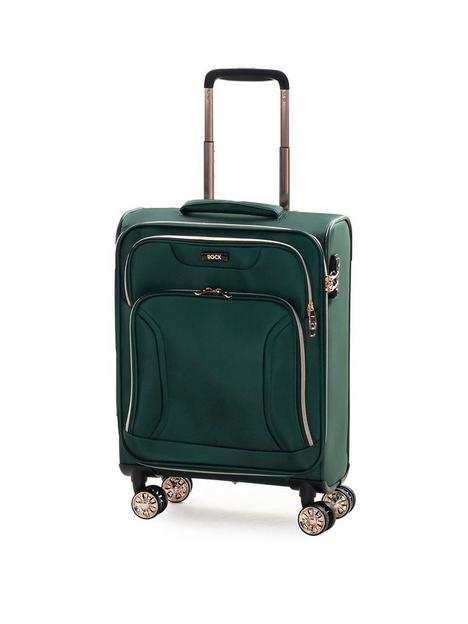 rock-luggage-hadley-carry-on-8-wheel-suitcase-green