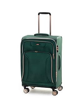 rock-luggage-hadley-medium-8-wheel-suitcase-green