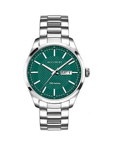 accurist-accurist-green-date-dial-stainless-steel-mens-watch