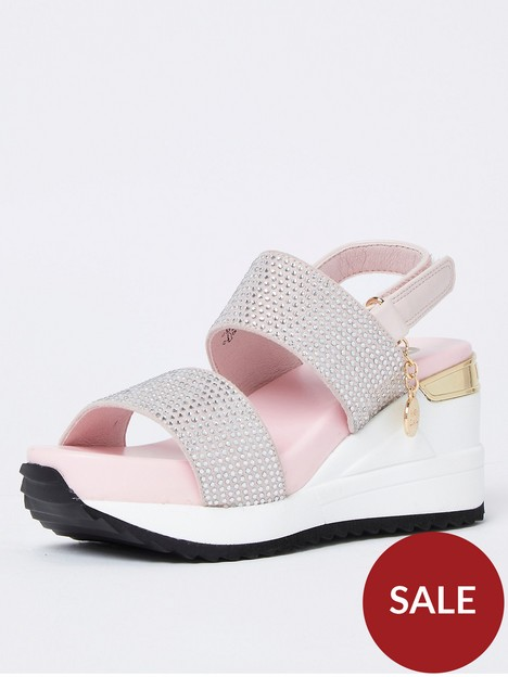 river-island-girls-pink-double-strap-sports-wedge-sandals
