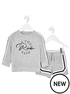 river-island-mini-mini-boys-toweling-crew-and-short-set-grey