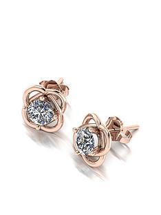 moissanite-moissanite-9ct-rose-gold-100ct-total-knott-earrings
