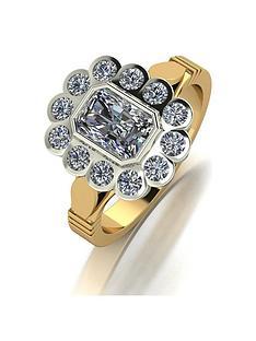 moissanite-moissanite-9ct-gold-200ct-total-radiant-centre-art-deco-cluster-ring