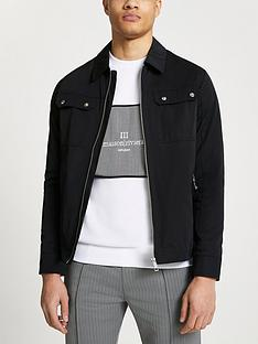 river-island-nylon-overshirt-jacket-black
