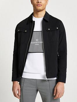 river-island-nylon-overshirt-jacket-black